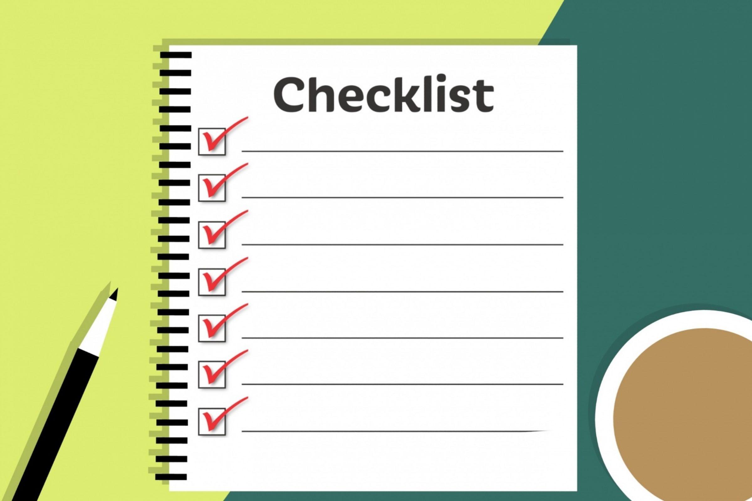 Deine Produktivität 2020 – Teil 5: Deine wöchentliche Checkliste
