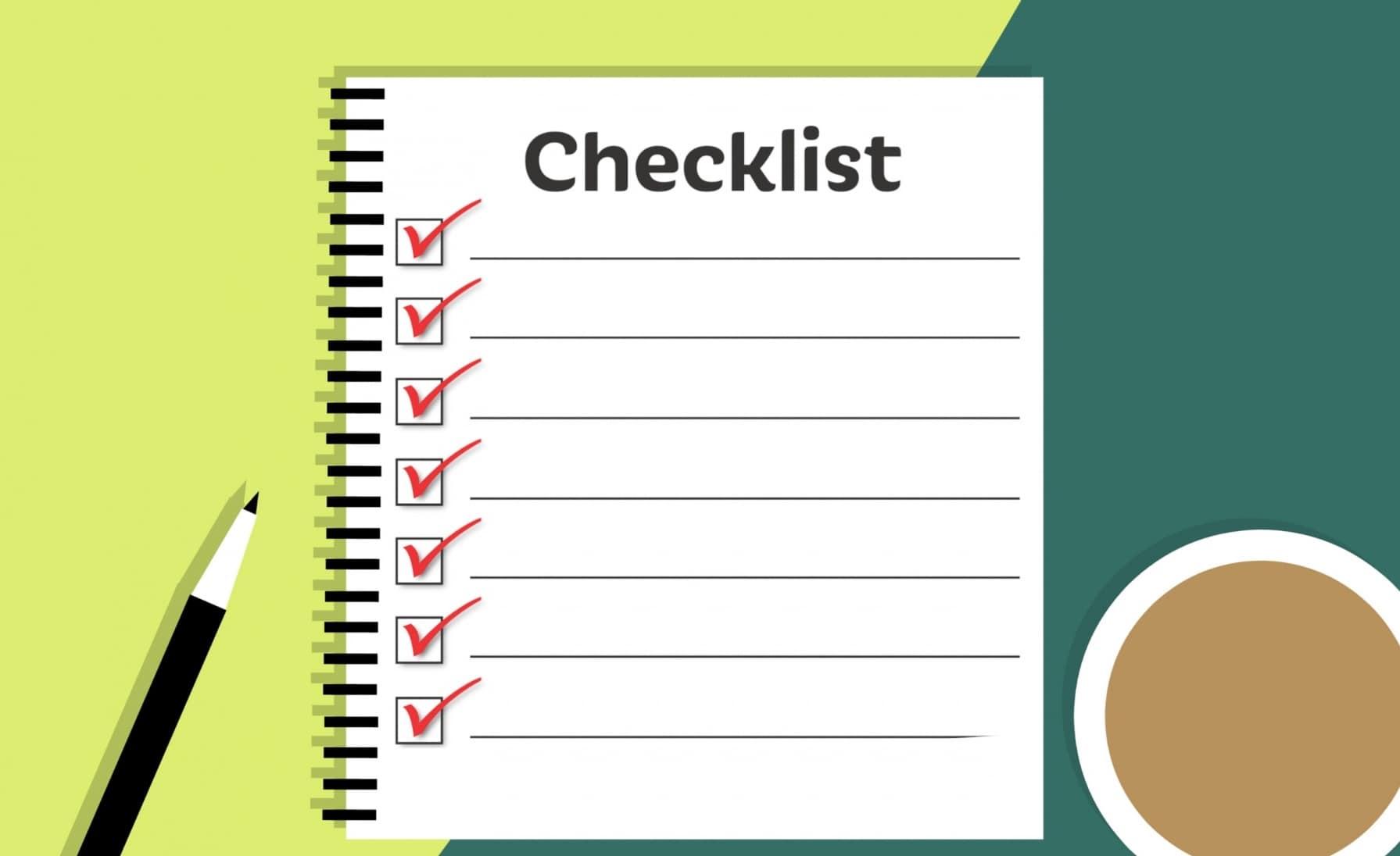 Woechentliche Checkliste für mehr Prduktivitaet. Bernd Kopin und Talente