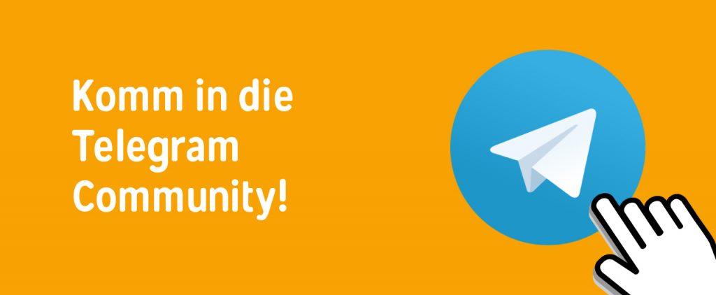 Telegram Gruppe für Austausch und Motivation 2020
