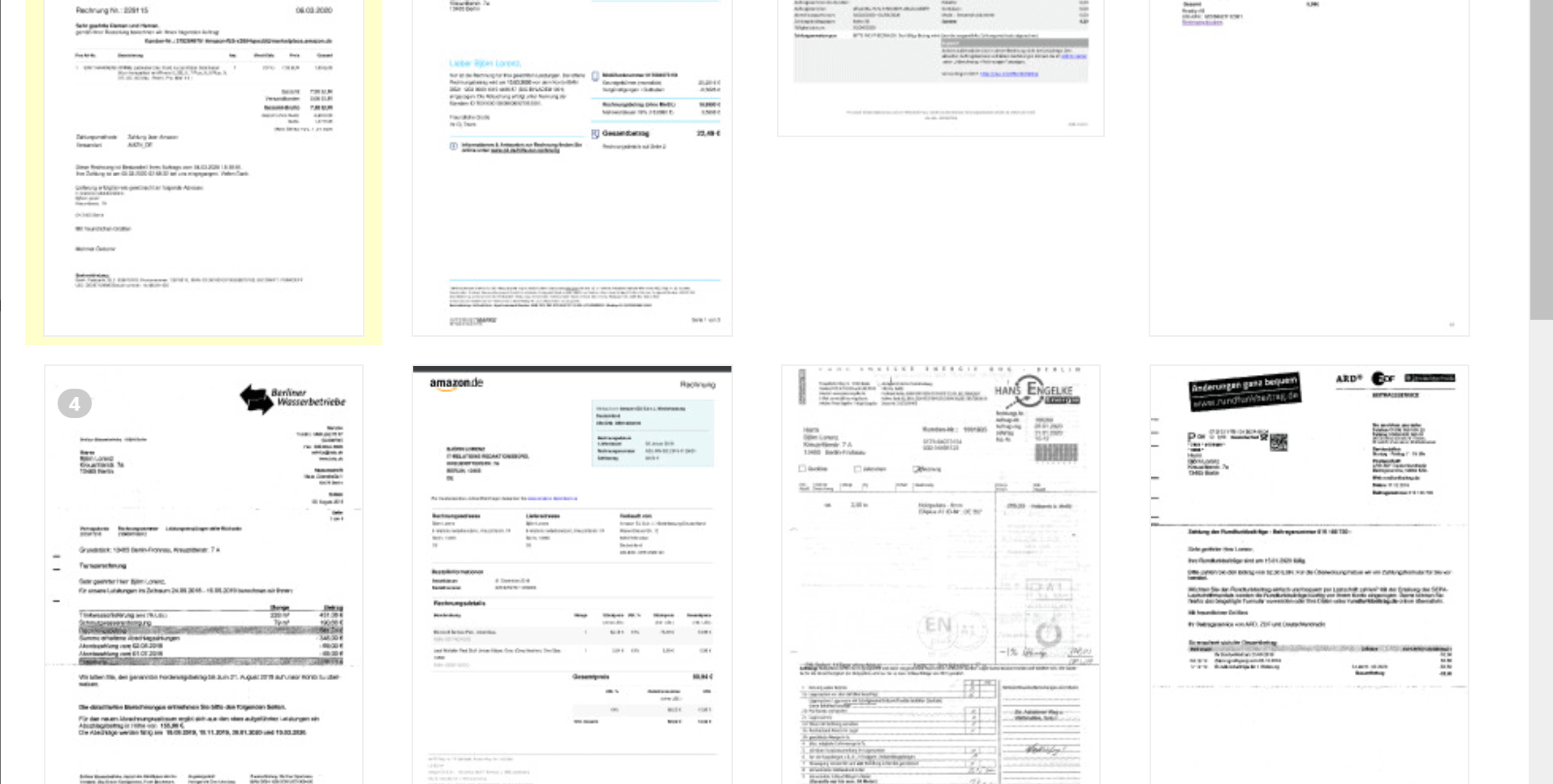 Lexoffice Testbericht: Importierte Belege parkt LexOffice zunächst im Posteingang. Sie lassen sich mit zwei Klicks für die Verarbeitung öffnen.
