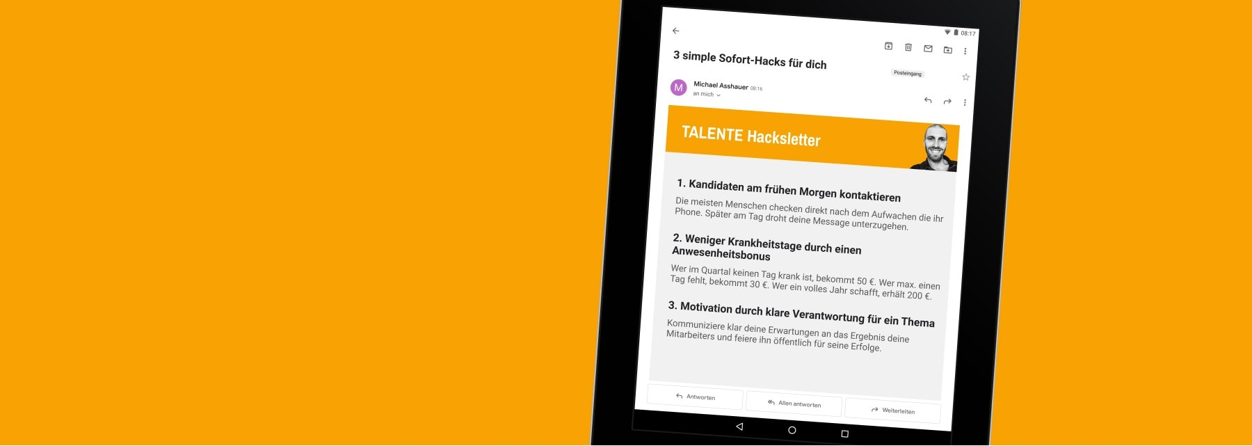 Der TALENTE Hacksletter Infoletter: Ideen und Tricks zum Finden, Führen und Binden der besten Mitarbeiter