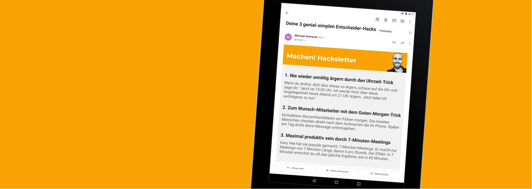 Der Machen! Hacksletter: Ideen und Inspirationen für Entscheider, Unternehmer und Führungspersönlichkeiten - früher TALENTE Hacksletter & Infoletter